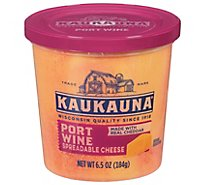 Kaukauna Port Wine Spreadable Cheese Cup 6.5oz