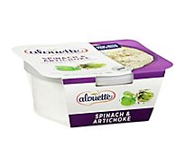 Alouette Cheese Soft Spreadable Spinach & Artichoke - 6.5 Oz