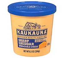 Kaukauna Sharp Cheddar Spreadable Cheese Cup - 6.5 Oz.