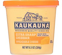 Kaukauna Extra Sharp Cheddar Spreadable Cheese Cup 6.5oz