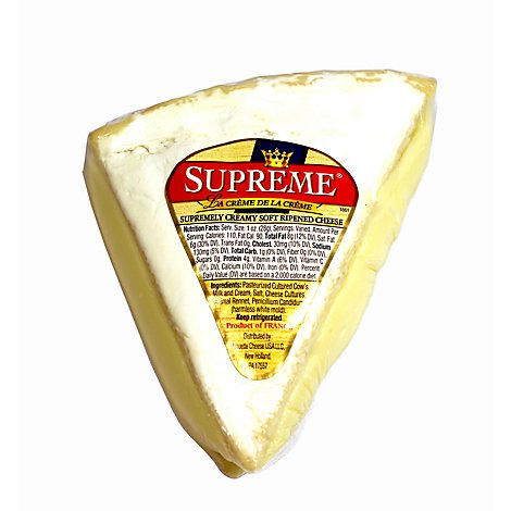 Supreme Brie Cheese Deli Vacuum Pack - 0.50 Lb