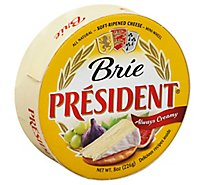 President Brie Cheese Mini Wheel - 8 Oz.