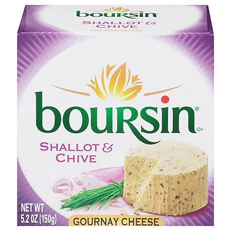 Boursin Shallot & Chive Gournay Cheese - 5.2 Oz.