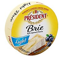 President Cheese Brie Light Round - 7 Oz
