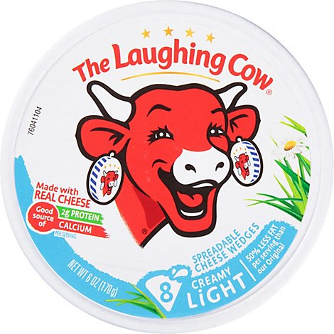 The Laughing Cow Creamy Light  Swiss Cheese Spread - 6 Oz.