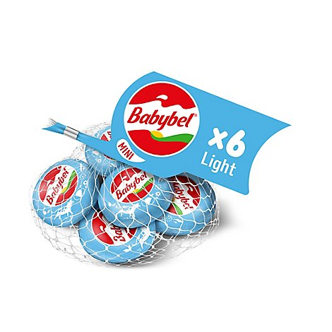 Mini Babybel Light Snack Cheese 6 Pack 4.5 oz