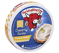 The Laughing Cow Creamy Swiss French Onion Cheese Spread 6 oz