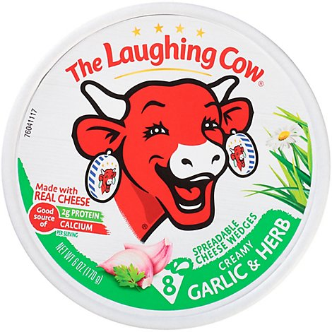 The Laughing Cow Creamy  Garlic & Herb Cheese Spread - 6 Oz.