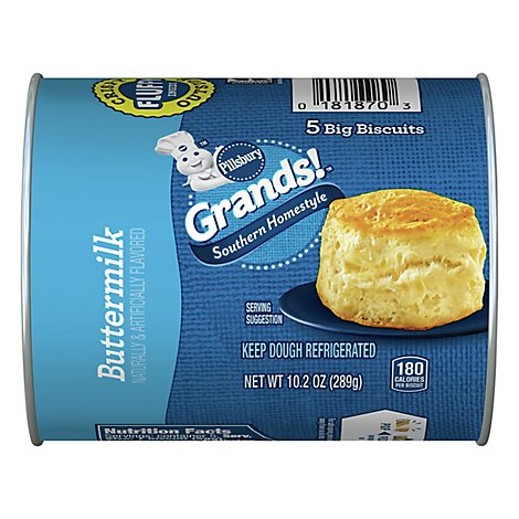 Pillsbury Grands! Biscuits Southern Homestyle Buttermilk 5 Count - 10.2 Oz