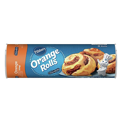 Pillsbury Sweet Rolls Orange With Icing Cinnamon 8 Count - 13.9 Oz