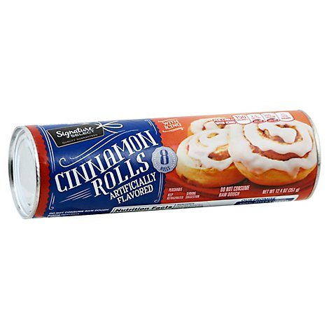 Signature SELECT Cinnamon Rolls with Icing 8 Count - 12.4 Oz