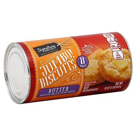 Signature SELECT Biscuits Butter Flavored Jumbo 8 Count - 16 Oz