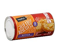 Signature SELECT Biscuits Butter Flavored Jumbos! 8 Count - 16 Oz