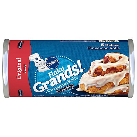 Pillsbury Grands! Cinnamon Rolls Big Flaky Supreme With Icing 5 Count - 17.5 Oz