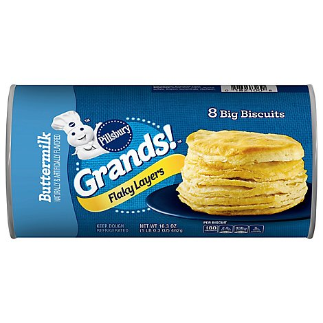 Pillsbury Grands! Biscuits Flaky Layers Buttermilk 8 Count - 16.3 Oz