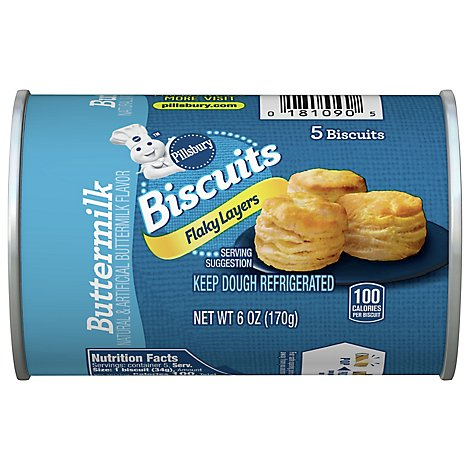 Pillsbury Grands! Jr Biscuits Golden Layers Buttermilk 5 Count - 6 Oz