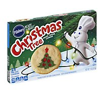 Pillsbury Ready To Bake! Shape Sugar Cookies Pre Cut Christmas Tree 24 Count - 11 Oz