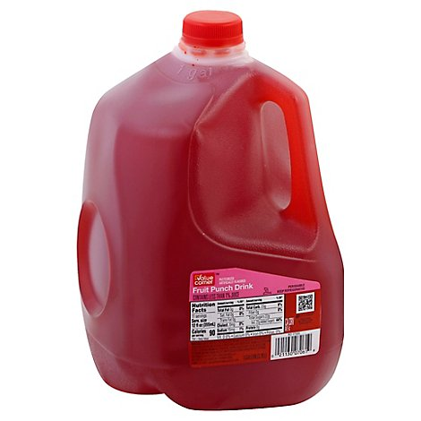 Value Corner Drink Fruit Punch - 128 Fl. Oz.