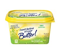 I Cant Believe Its Not Butter! Vegetable Oil Spread 30% Light - 15 Oz