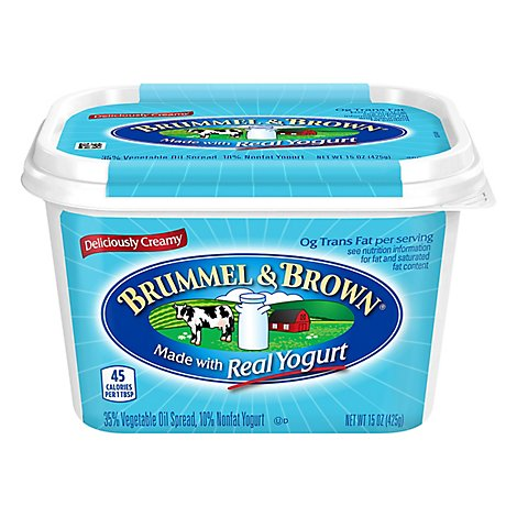 Brummel & Brown Spread 35% Vegetable Oil Nonfat Yogurt - 15 Oz