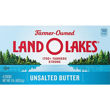 Land O Lakes Butter Stick Unsalted 4 Count - 1 Lb