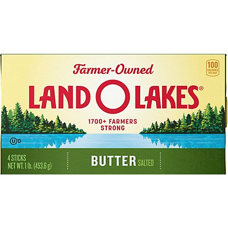 Land O Lakes Butter Sticks Salted 4 Count - 1 Lb