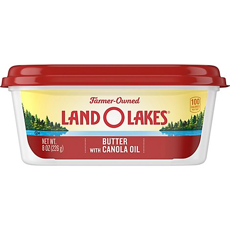 Land O Lakes Spreadable Butter with Canola Oil - 8 Oz