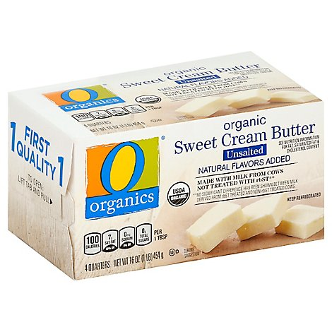 O Organics Organic Butter Sweet Cream Unsalted 4 Count - 16 Oz