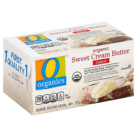 O Organics Organic Butter Sweet Cream Salted 4 Count - 16 Oz