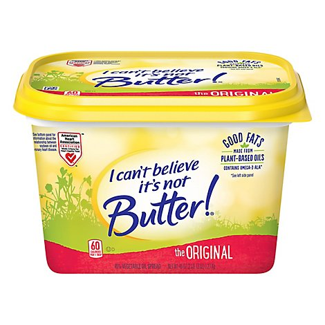 I Cant Believe Its Not Butter! Vegetable Oil Spread 45% Original - 45 Oz