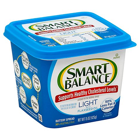 Smart Balance Buttery Spread Light With Flaxseed Oil - 15 Oz