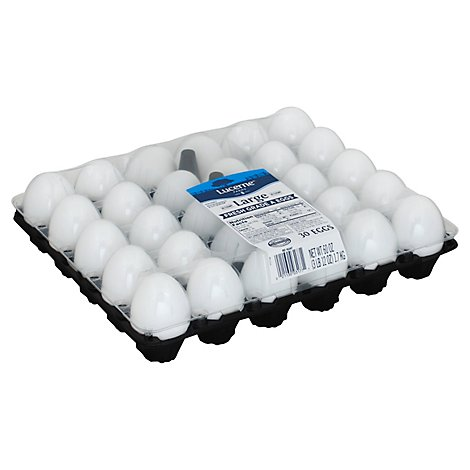 Lucerne Eggs Large - 30 Count
