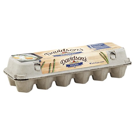 Davidsons Eggs Large Pasteurized - 12 Count