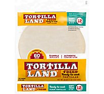 Tortilla Land Uncooked Flour Tortillas - 12 Count