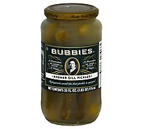 Bubbies Kosher Dill Pickles - 33 Fl. Oz.