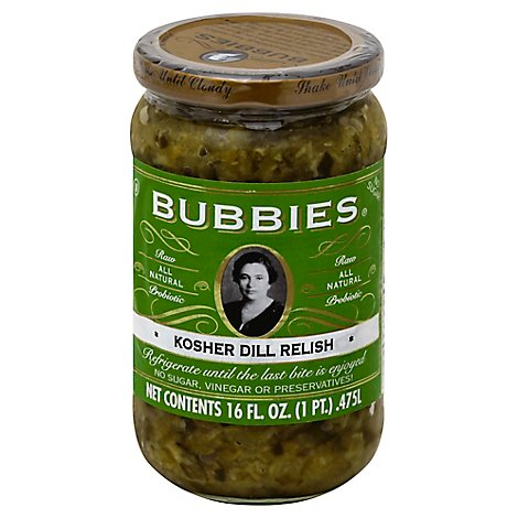 Bubbies Kosher Dill Relish - 16 Oz