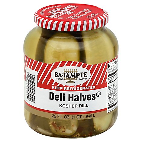 Ba-Tampte Pickles Kosher Dill Halves- 32 Oz
