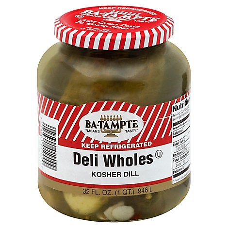 Ba-Tampte Pickles Kosher Dill Whole - 32 Oz