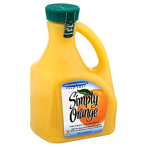 Simply Orange Juice Pulp Free Calcium & Vitamin D - 2.63 Liter