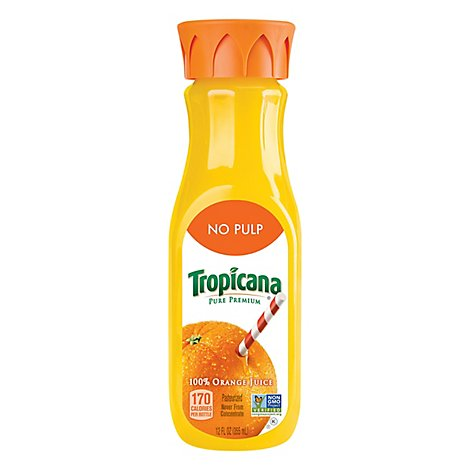 Tropicana Juice Pure Premium Orange No Pulp Chilled - 12 Fl. Oz.