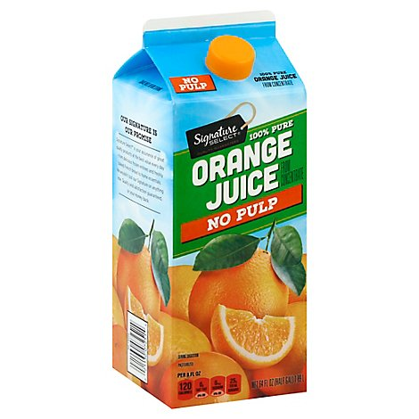 Signature SELECT Juice 100% Pure Orange From Concentrate - 64 Fl. Oz.