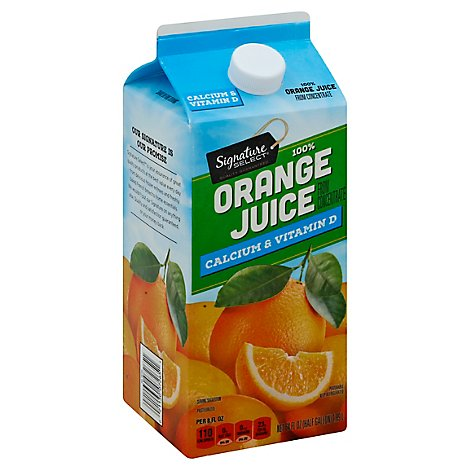 Signature SELECT Juice 100% Pure Orange Calcium & Vitamin D Chilled - 64 Fl. Oz.