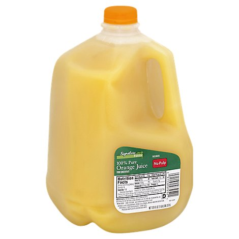 Signature SELECT/Farms Juice 100% Pure Orange No Pulp Chilled - 128 Fl. Oz.