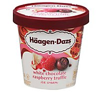 Haagen-Dazs Ice Cream White Chocolate Raspberry Truffle - 14 Fl. Oz.