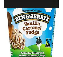 Ben & Jerrys Ice Cream Vanilla Caramel Fudge - 1 Pint