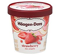 Haagen-Dazs Ice Cream Strawberry - 14 Fl. Oz.
