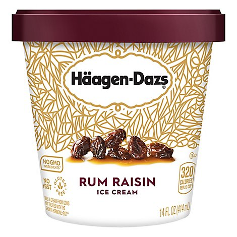 Haagen-Dazs Ice Cream Rum Raisin - 14 Fl. Oz.