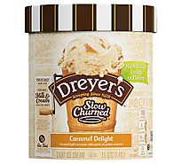 Dreyers Edys Ice Cream Slow Churned Light Caramel Delight - 1.5 Quart