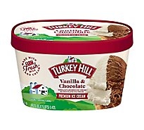 Turkey Hill Ice Cream Vanilla Chocolate - 56 Fl. Oz.