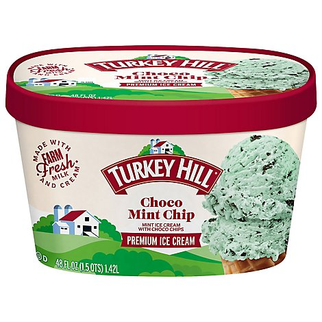 Turkey Hill Ice Cream Premium Original Recipe Choco Mint Chip - 48 Oz